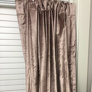 West Elm  worn Velvet curtain panels
